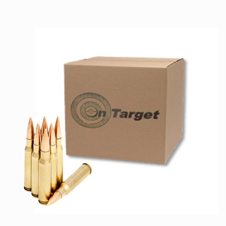 On Target  308 147gr FMJ Ammo - 500 Rounds - Lohman Arms